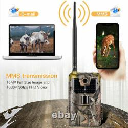4G LTE MMS SMS Trail Camera Game Cam 16MP 1080P Wildlife Hunting Camera Scouting