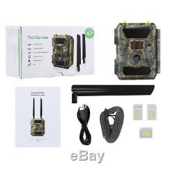 4G Outdoor Wireless 32GB Security Trail Camera 3G Wild LIfe GPS Solar Powered