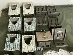 6 USED Moultrie Trail Cameras Locking Security Boxes Box Game Cameras Real Tree