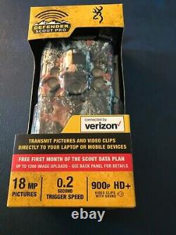 Browning Defender Scout Pro 4G LTE 18MP VERIZON Game Trail Camera NEW