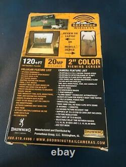Browning Defender Wireless 4G LTE AT&T Game Trail Camera NEW