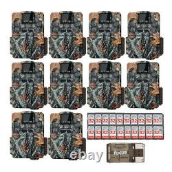 Browning Strike Force Dual Lens Trail Camera 10 pack with 16GB Cards and Reader