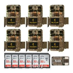 Browning Trail Cameras 20MP Spec OPS Edge Trail Camera (6-Pack) Complete Bundle