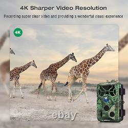 Campark 4K Trail Camera WiFi 30MP Bluetooth Wildlife Hunting NightVision Outdoor