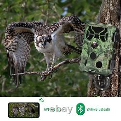Campark WIFI Trail Camera 4K 30MP Outdoor Wildlife Hunting Game Night Vision Cam