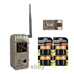Cuddeback 20MP Dual Flash Trail Camera with CL-Cap and D Batteries (4-Pack)