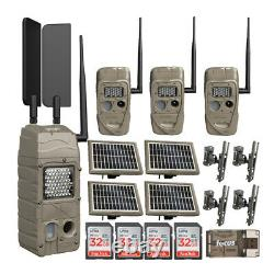 Cuddeback CuddeLink PowerHouse IR Cell Trail Camera AT&T Solar Power Bundle
