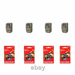 Cuddeback Flash Trail Camera (4 Pack) with SanDisk 16GB SD Memory Card (4 Pack)