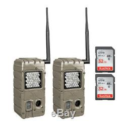 Cuddeback G-5062 CuddeLink Power House Trail Cameras 2-Pack and Memory Cards Kit