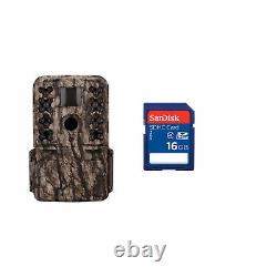 Moultrie M-50 20MP Low Glow Infrared Game Trail Camera, Camo + 16GB SD Card