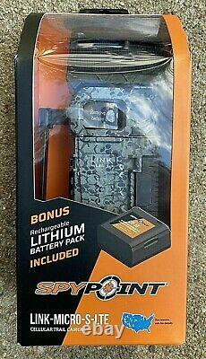 NEW Spypoint Link-Micro-S-LTE Cellular Trail Camera & Rechargeable Bonus Battery