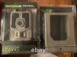 New Sealed Tactacam REVEAL 24MP Verizon Trail Camera And New Reveal Lock Box Kit