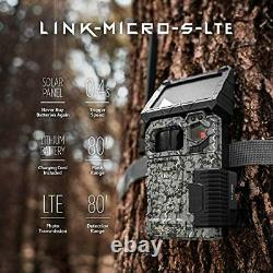 SPYPOINT LINK-MICRO-S-LTE Solar Cellular Trail Camera 4 LED Infrared Flash Ga