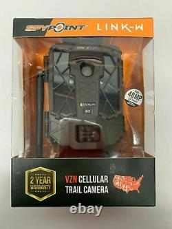 SPYPOINT LINK-W VZN 4G CELLULAR 10MP TRAIL CAMERA WithFREE BUCK TRACKER NIB