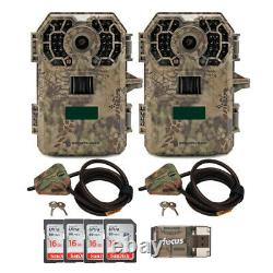 Stealth Cam 2020 G42NG 24MP Trail Camera 2-Pack with Cable Locks and 4 Cards Kit