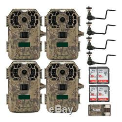 Stealth Cam 2020 G42NG 24MP Trail Camera 4-Pack Kit with Tree Mounts and Cards