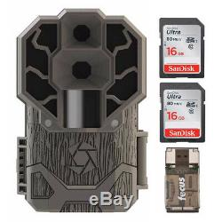 Stealth Cam DS4K 30MP Trail Camera (Brown) with 16GB Card (2) and Reader