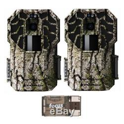 Stealth Cam G45NGX 22MP No-Glow Trail Camera (2-Pack) with Card Reader