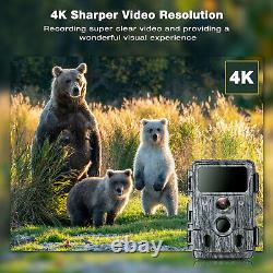 TOGUARD 4K Native WiFi Trail Camera 30MP Game Camera Motion Activated Hunting