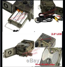 Trail Camera Wireless Security Solar Panel Powered Kit IR Scout Hunting